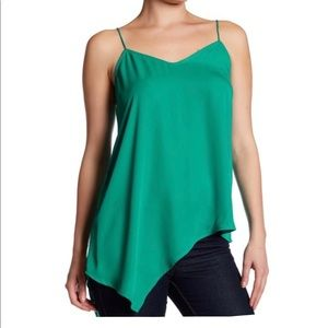 Laundry Shelli Segal Green Asymmetric Tank Top